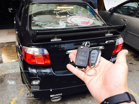 Toyota Vios year 2005, replacing faulty Cobra alarmbox to aftermarket alarm system with flipkey remo