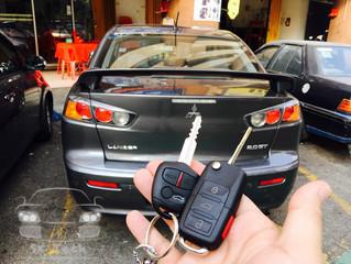 Mitsubishi Lancer GT year 2010 add new flip key remote and immobilizer.