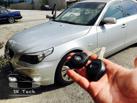 BMW 5 series E60, duplicate new car key remote with immobilizer transponder
