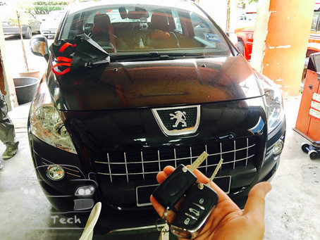 Peugeot 3008 year 2011 add new key and remote as spare key