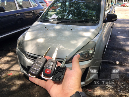 Proton Exora Bold casing replacement and add new flipkey remote