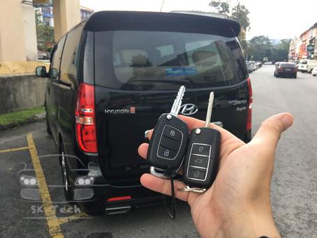 Hyundai Starex year 2015, add new flipkey remote with immobilizer transponder.