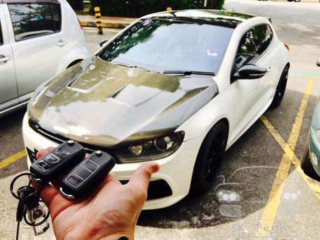 VW Scirocco R Edition year 2011 add new remote & key