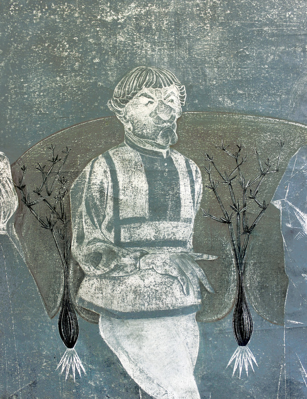 The Three Living and the Three Dead (detail)