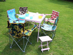 Outdoor chair and table|trade