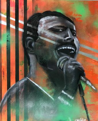 Abstract Icon - Freddie Mercury