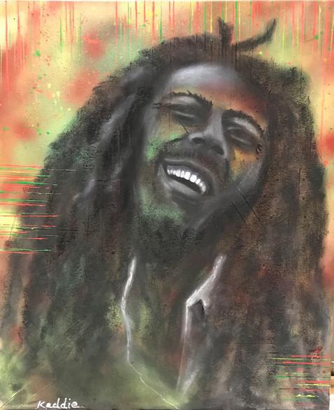 Abstract Icons - Bob Marley