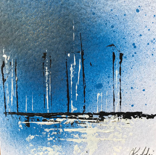 Abstract city - Blue