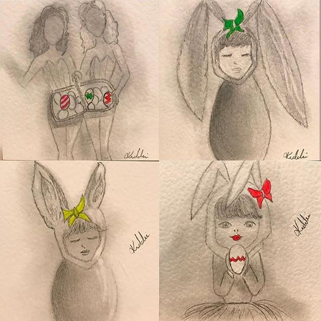 Easter gift Art cards.