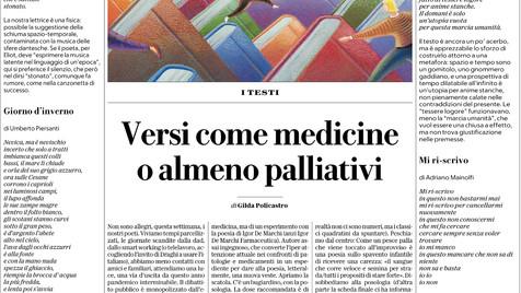Gilda Policastro su La Repubblica, 27 marzo 2021
