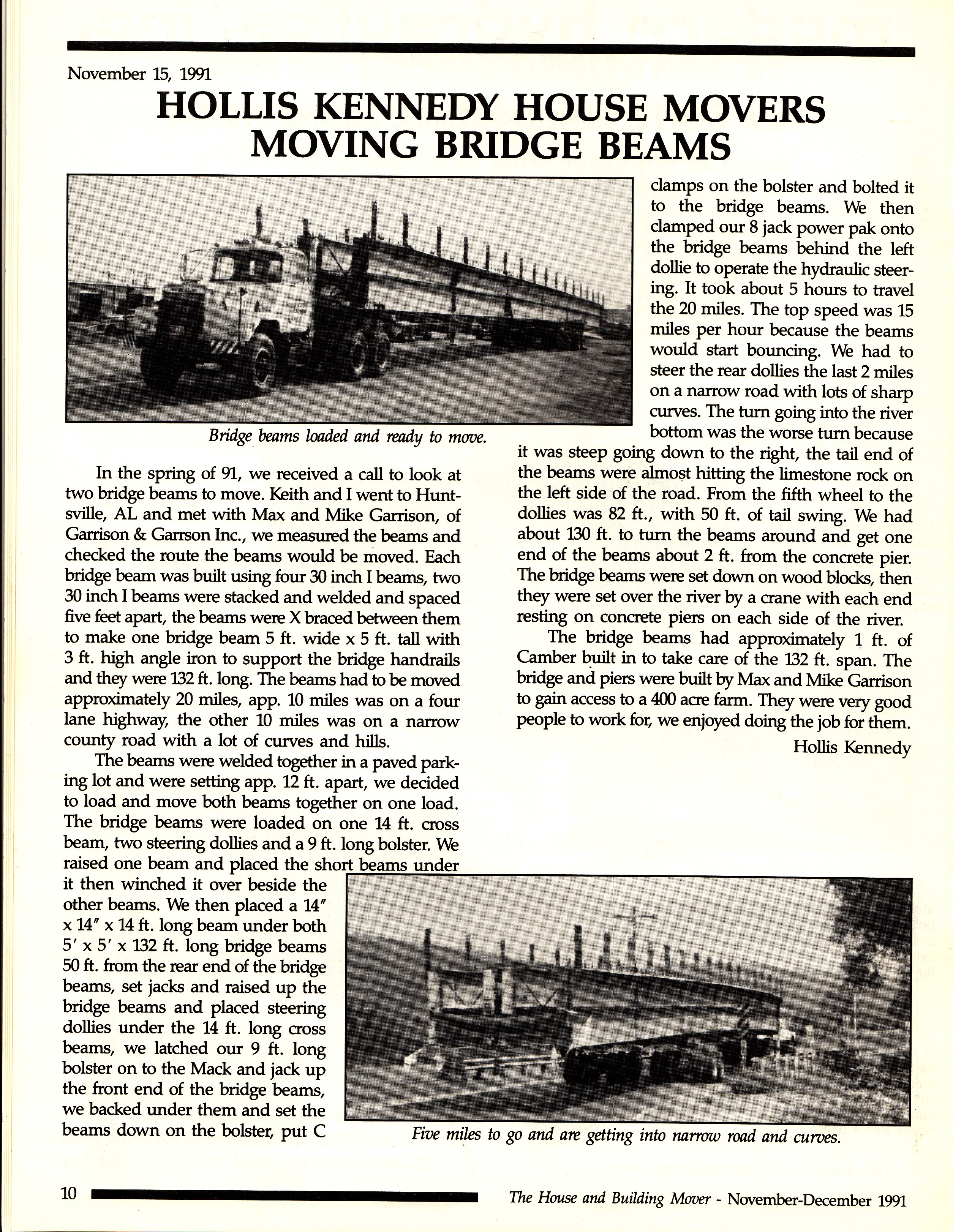 Bridge Beams Move