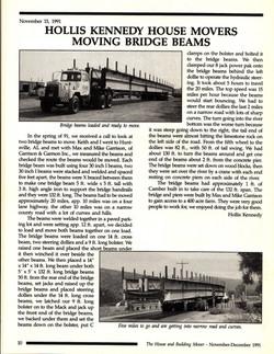 Bridge Beams Move