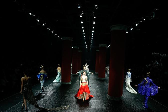 Guo Pei at Jinan in Style International Fashion Week