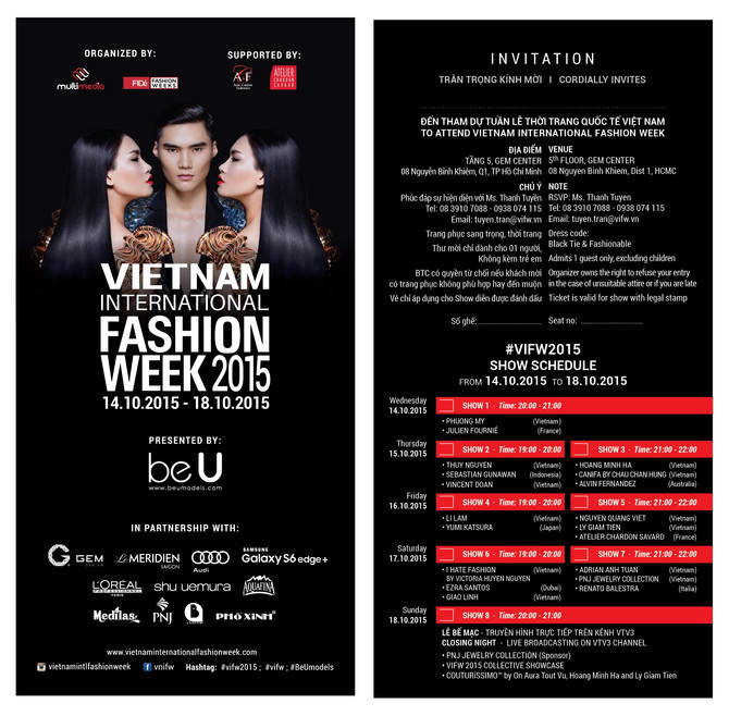 Vietnam International Fashion Week 2015 <br/><br/><br/>