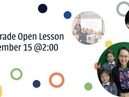 Open Lesson