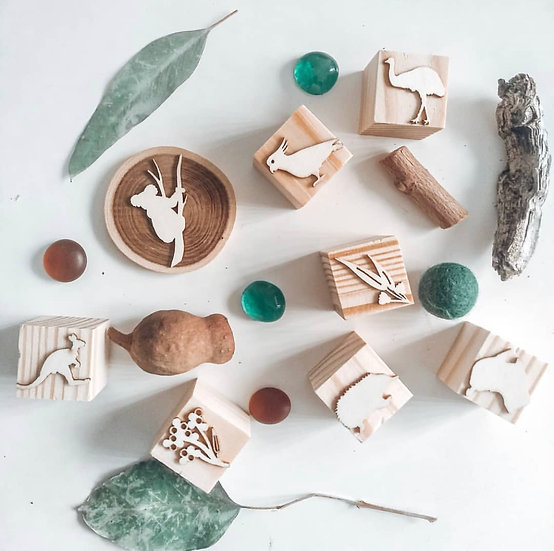 Wooden Stampers - By The Billabong