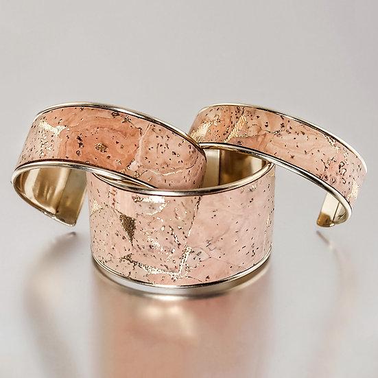 Natural Metallic Gold Cuff - Portuguese Cork