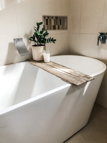Rustic Timber Bath Caddy - Reclaimed Wood
