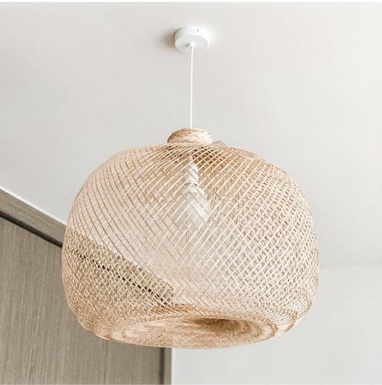 Handwoven Bamboo Light Pendant