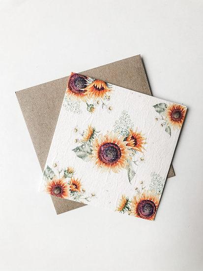 Plantable Gift Card - Sunflower