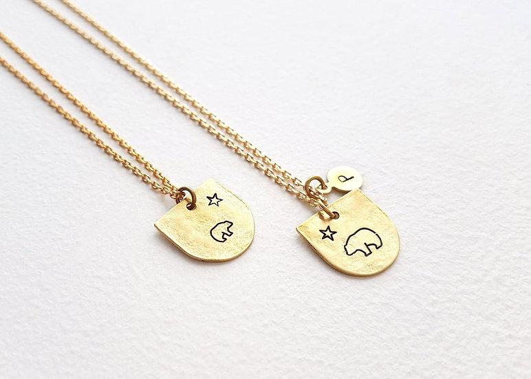 Mama & Baby Bear - Necklace Set