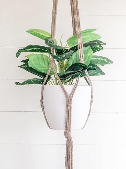 Macrame Plant Hanger - Latte