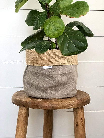 Handmade Plant Cover - Natural