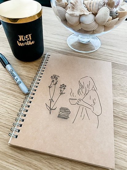 Laser Engraved Notebook - Customisable Cover