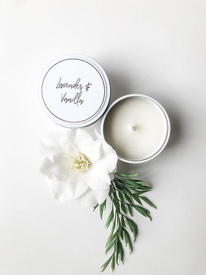 Haven Soy Candles - Lavender & Vanilla Tin