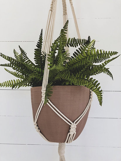 Macrame Plant Hanger - Cream