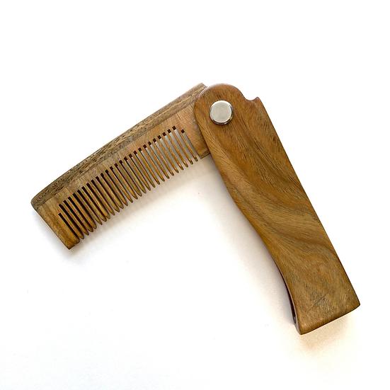 Folding Cherry Wood Comb