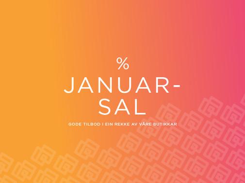 Januarsal opptil -70%