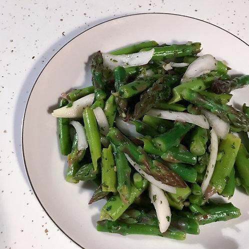 Asparagus Garlic Scape + Herb Salad