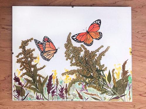 Watercolor + Pressed Flowers