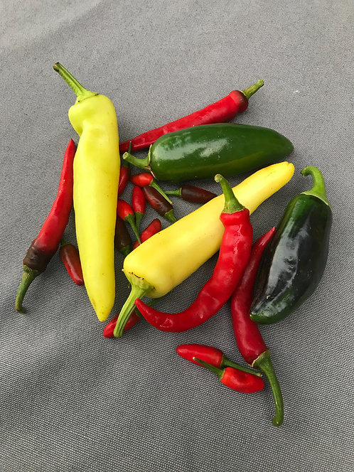 Mixed Hot Peppers - Pint