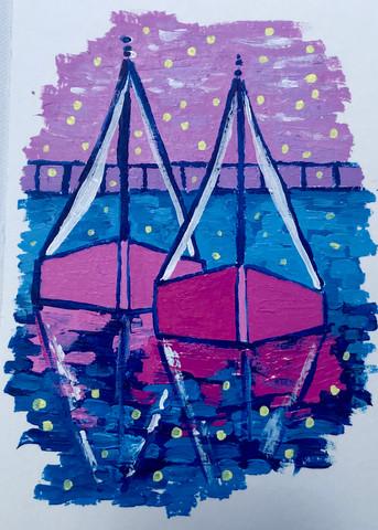 Megenta Twin Sails