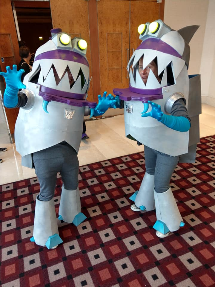 Sharkticons. Hungry for your vote in the cosplay competition.