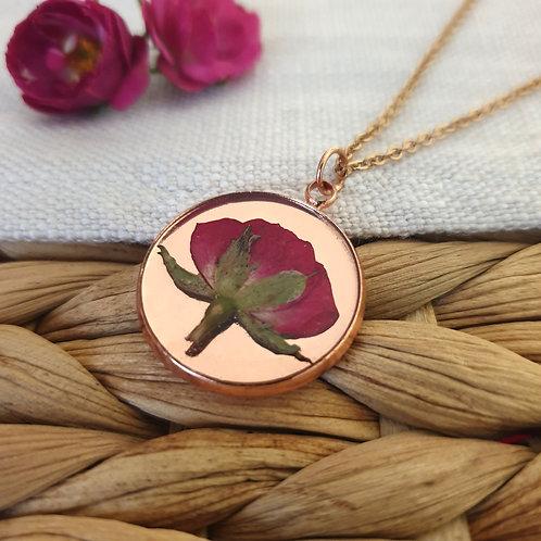 Collier Bouton de Rose Rosé