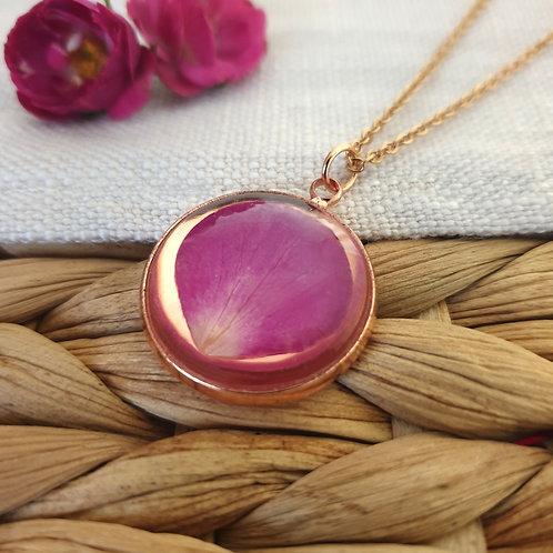 Collier Pétale de Rose Rosé