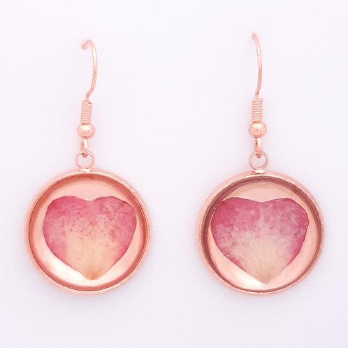 Boucles d'oreilles Pétales de Rose