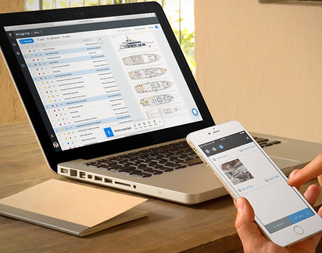 Pinpoint Works software apps for web and mobile - yacht and property