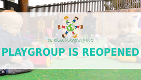 St Kilda Playgroup is reopened!