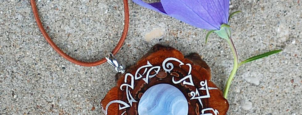 N960 Blue Lace Agate Zodiac