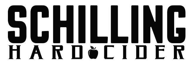 Schilling Cider Logo: Your apple a day just got interesting!