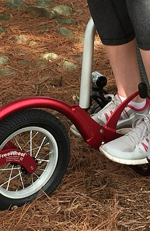 Red FreeWheel Wheelchair Attachment
