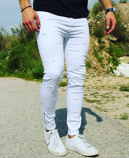 INTOLERAVEL WHITE FITINH JEANS