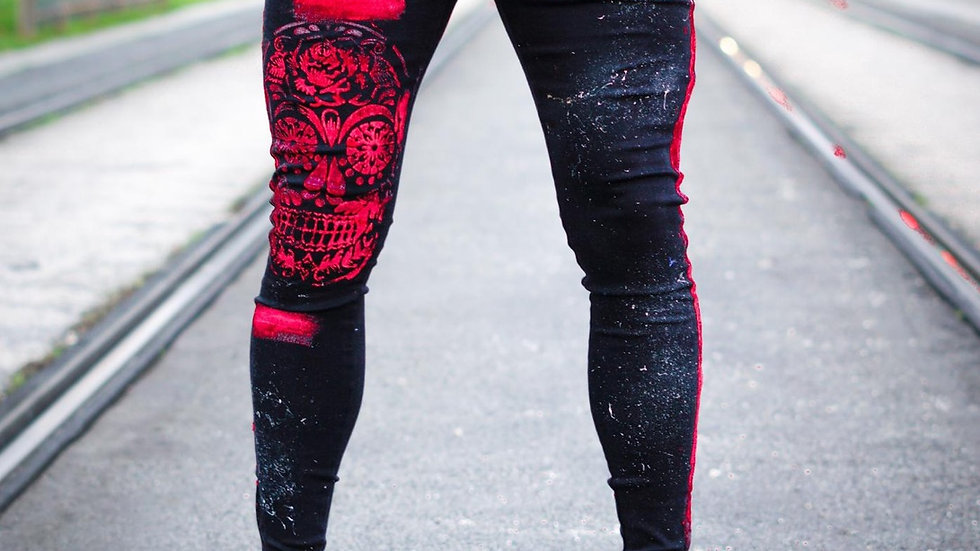 INTOLERAVEL RED SKULL JEANS