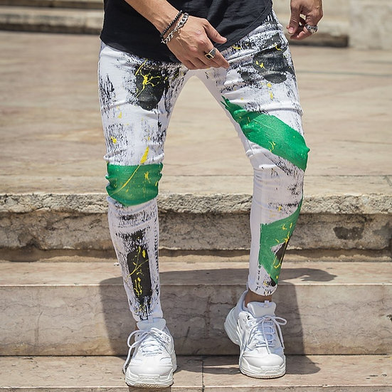 INTOLERAVEL BLACK AND GREEN JEANS