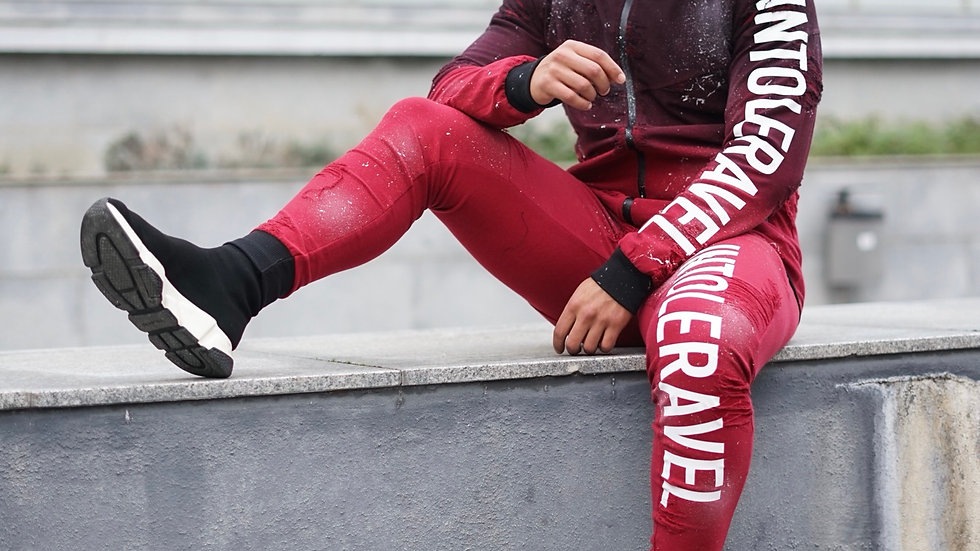 INTOLERAVEL RED TRACKSUIT