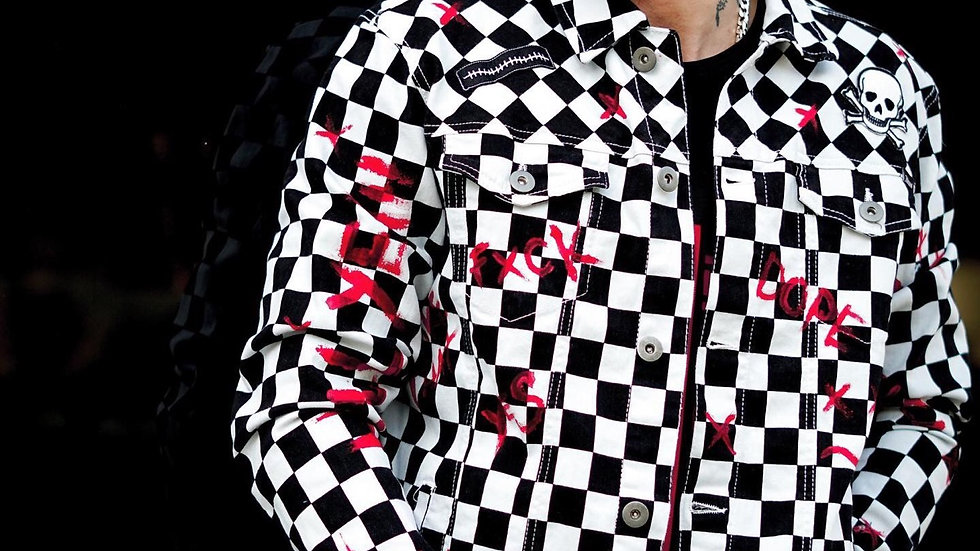 INTOLERAVEL CHESS DENIM JACKET